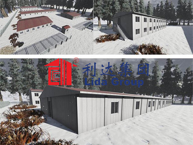 High Qulity Good Insulation Container House Camp in Russia