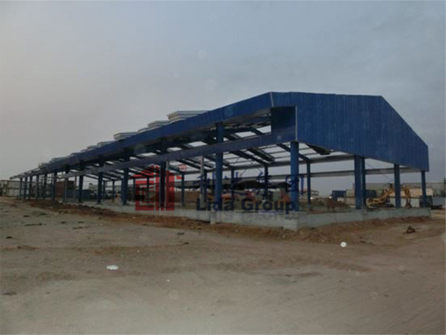 Angola light steel structure factory workshop project